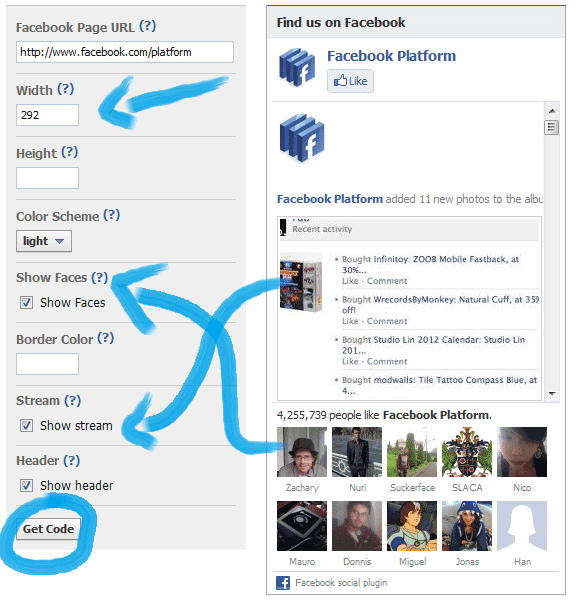 Add a Facebook Likebox to your Website