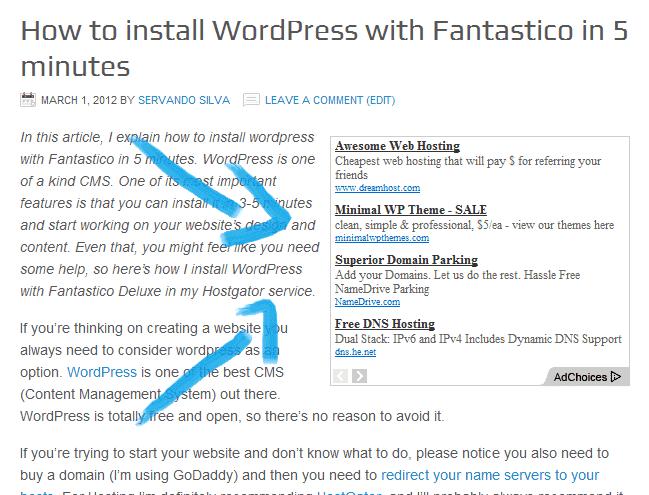 How to add adsense to wordpress Example