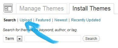 How to install wordpress theme Upload