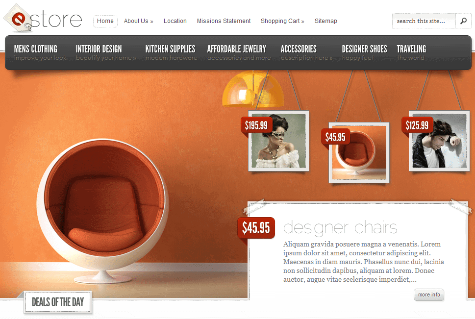 Elegant Themes eStore ecommerce theme