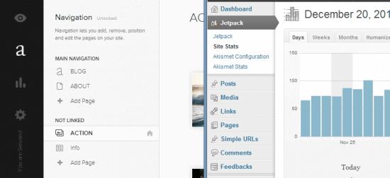 squarespace vs wordpress dashboard