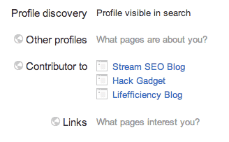 Google Authorship Plus Profile