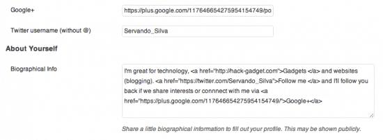 Google Authorship WordPress User