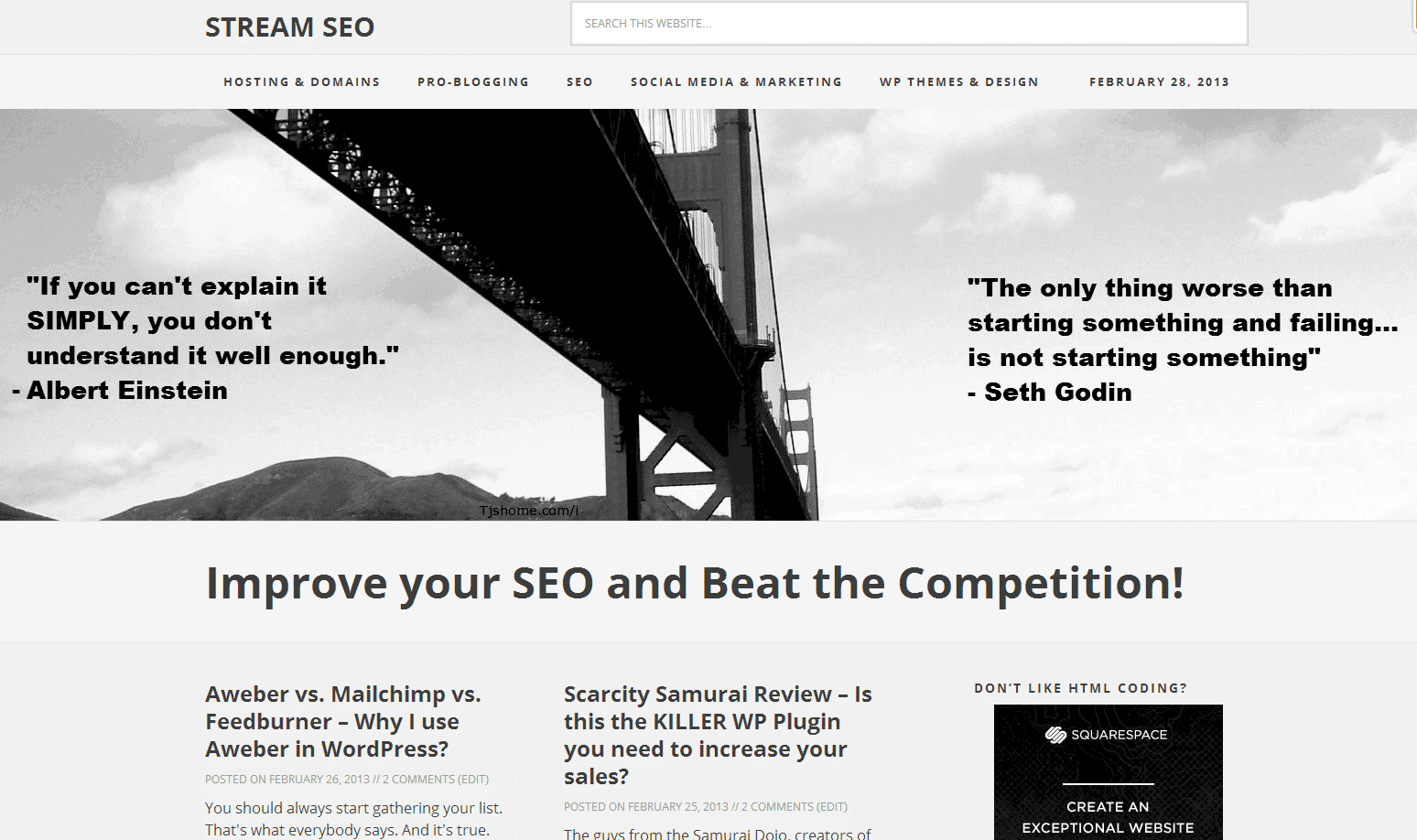 Why I decided to use Squarespace Templates.. in WordPress