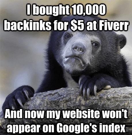 backlink experiment low quality backlinks