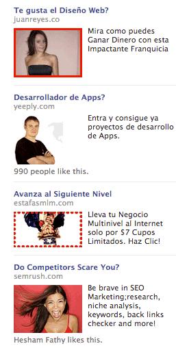 Exemples de publicité sur Facebook