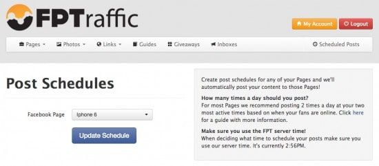 facebook reach fptraffic post schedule