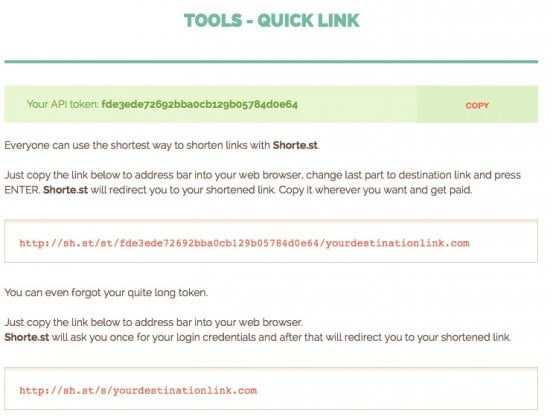 Shorte st review URL shortener