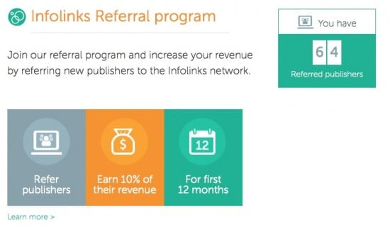 Make money Contextual Ads infolinks review referral program