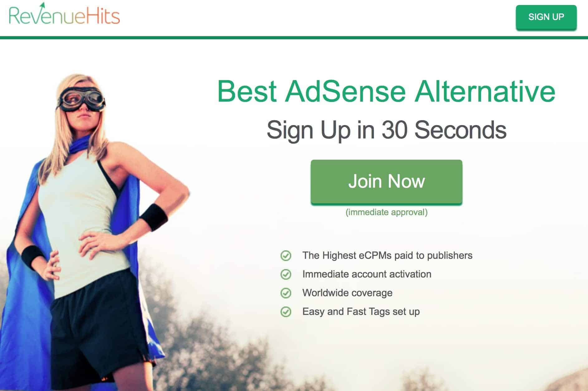 Revenue Hits Review - adsense alternative