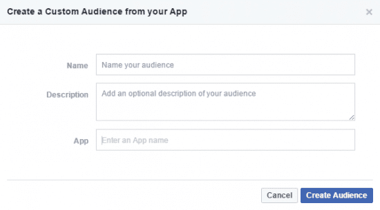 App Activity Custom Audience Facebook