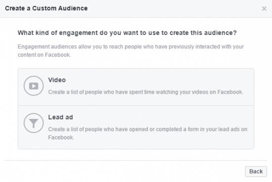 Engagement Custom Audience Facebook