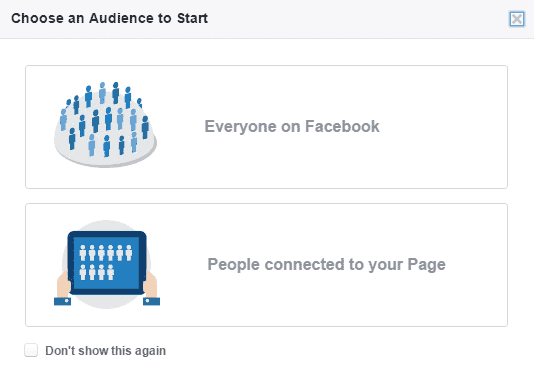 Facebook Audience Insights Pop Up