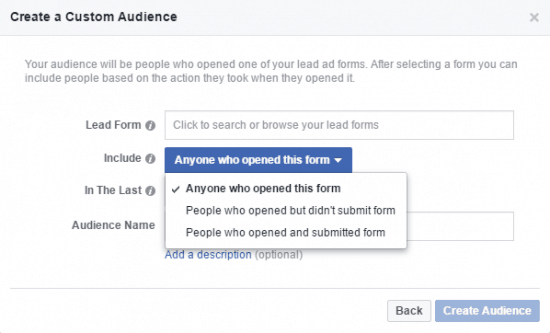 Facebook Custom Audience Engagement