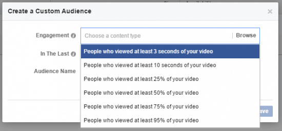 Facebook Custom Audience Engagement