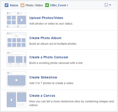 How to create a facebook fan page upload photos