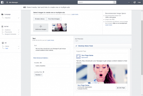 How to get likes on facebook page media