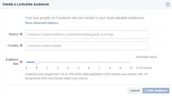 Lookalike Custom Audience Facebook