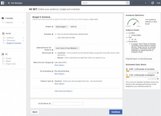 Types of Facebook Ads Budget & Schedule