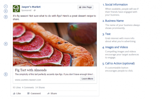 Types of Facebook Ads Desktop Design