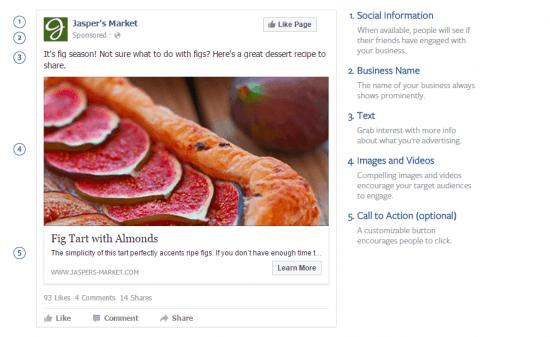Types of Facebook Ads Desktop Design
