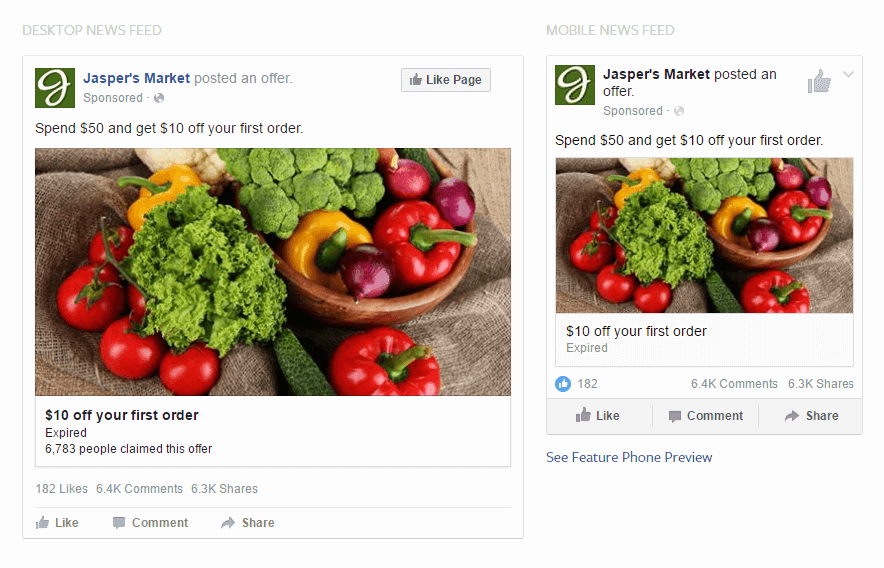 Types of Facebook Ads Offer Claims