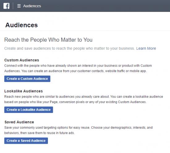 Types of Facebook Custom Audiences