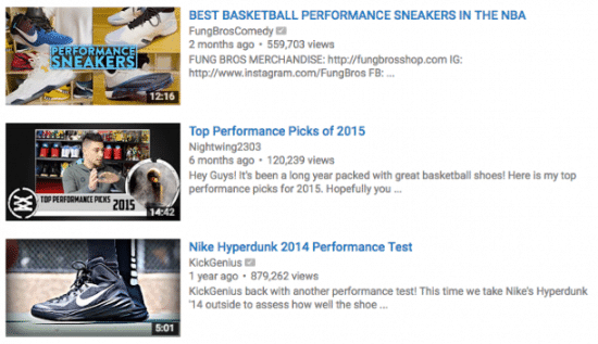 youtube seo rankings search results example