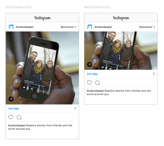instagram sponsored posts app engagement