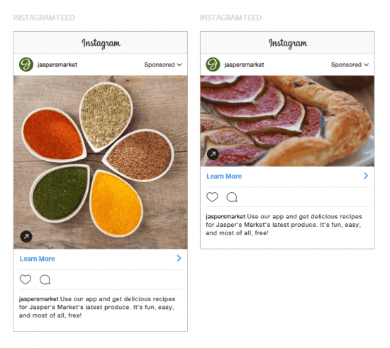 instagram sponsored posts website clicks
