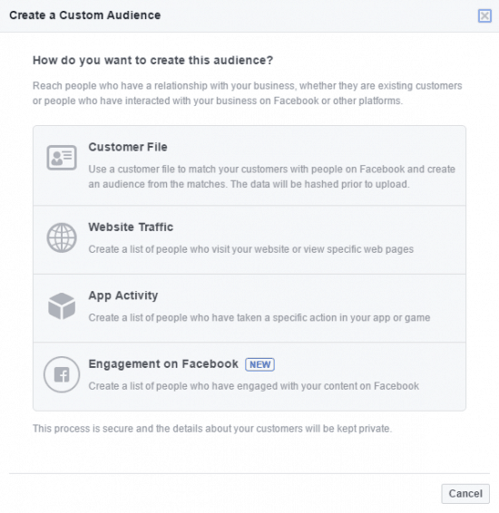 remarketing facebook custom audience