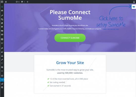 social share buttons wordpress dashboard