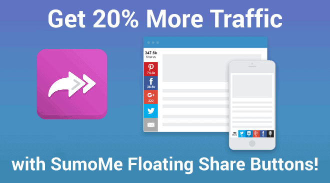 Setup Floating Share Buttons with Sumome
