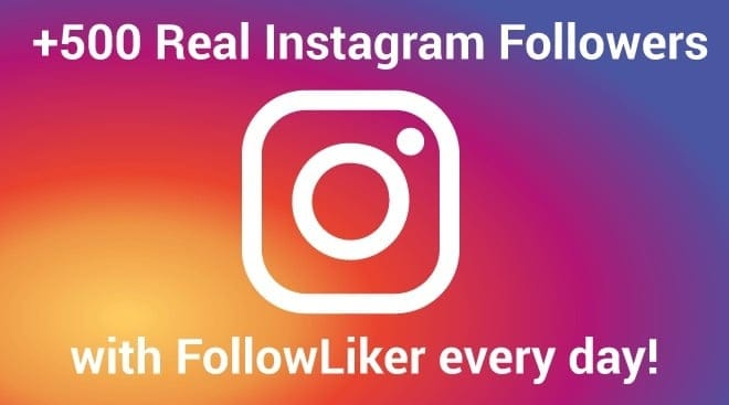 FollowLiker Review - Get 500 Instagram Followers per day - Stream SEO