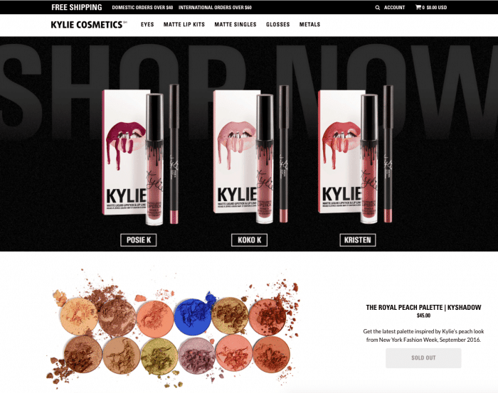 shopify empires the process behind 100000 per month ecommerce stores kylie jenner shop kylie cosmetics
