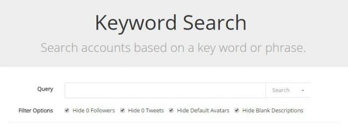 grow my twitter followers rewst keyword search tool