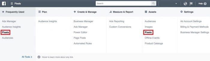 shopify create your online store part 2 pixels menu