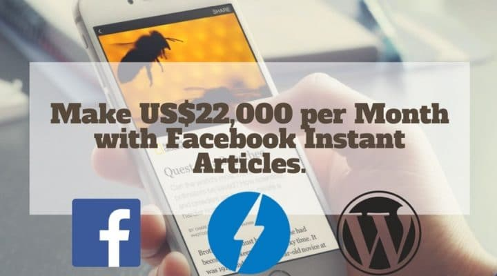 Make Money Facebook Instant Articles Audience Network