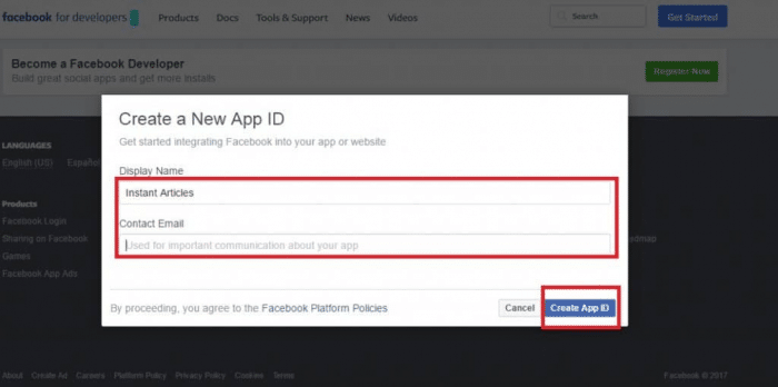 Make Money Facebook Instant Articles Audience Network - App ID