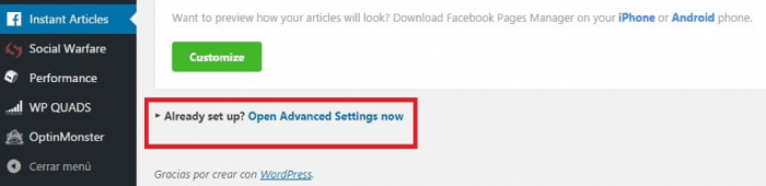 Guadagna Facebook Articoli istantanei Rete del pubblico - Articoli istantanei