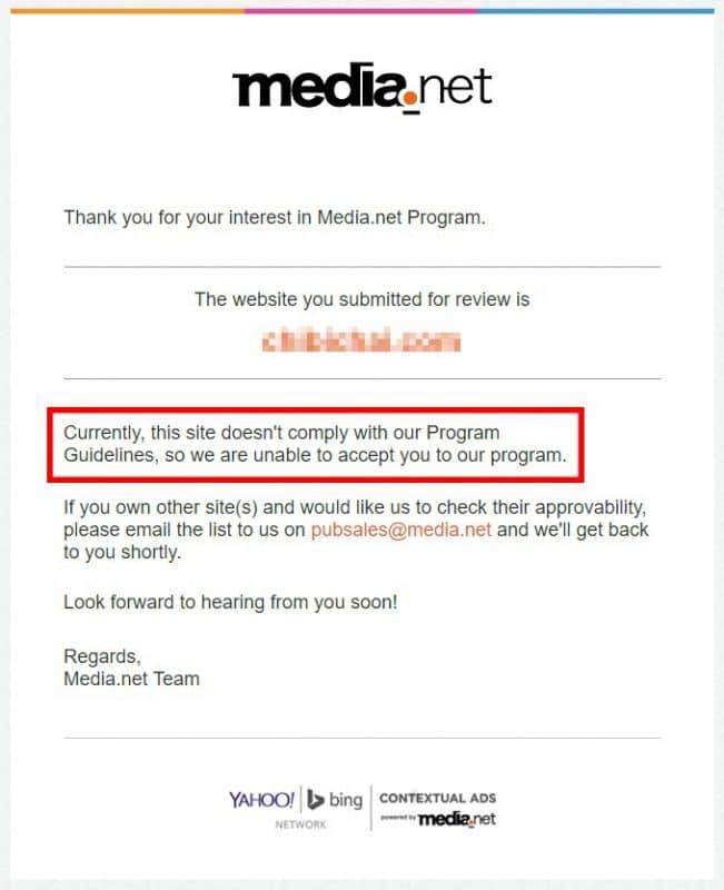 media net request denial