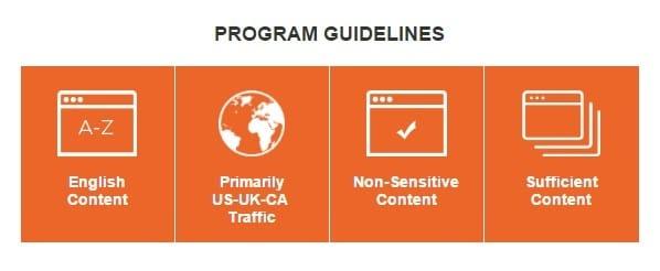 media net review publishers program guidelines