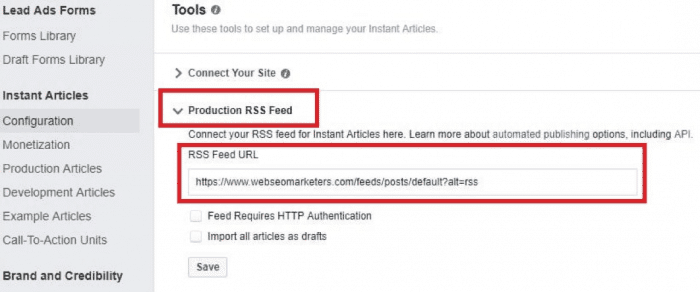 Facebook Instant Articles for Blogger 8