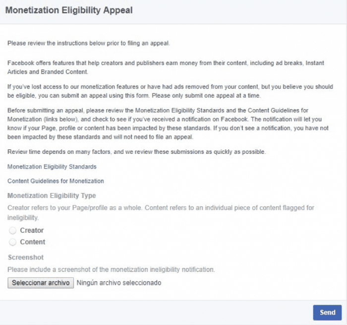 facebook instant articles banned appeal