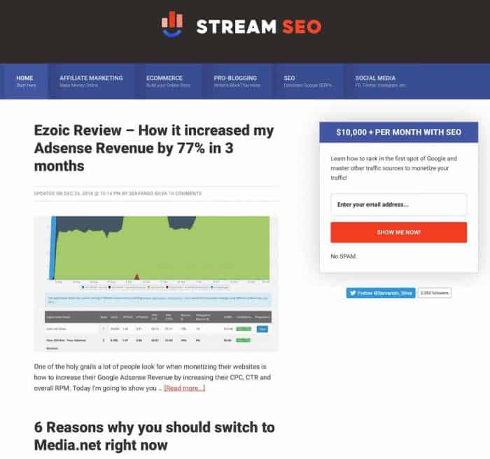Stream SEO Evolution January 2019