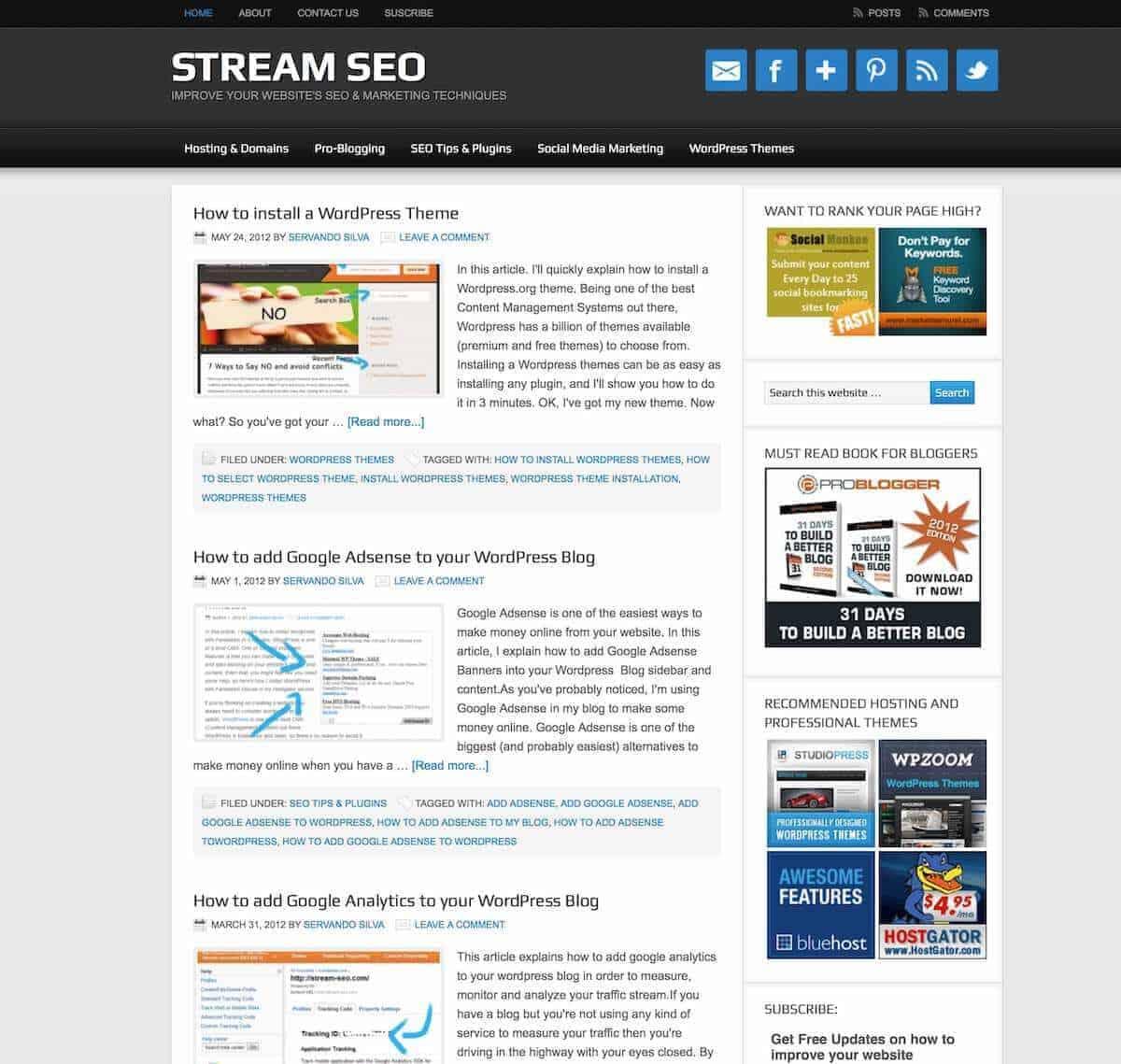 Stream SEO Evolution March 2012