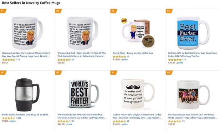amazon print on demand top selling mugs