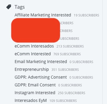 convertkit review - tags
