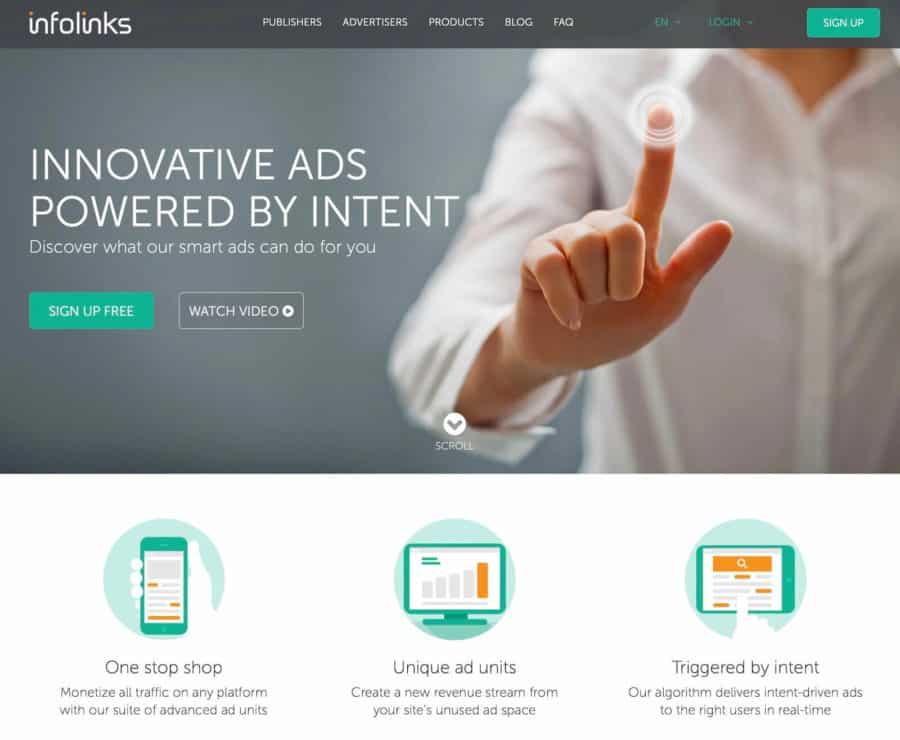 adsense alternative - infolinks