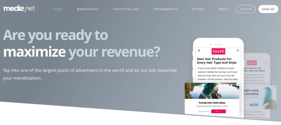 best adsense alternative - media net